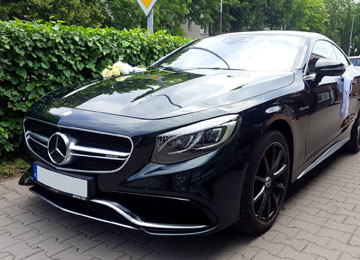 samochód do ślubu Turek - Mercedes S63 AMG